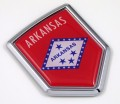 Arkansas Flag Crest Car Badge
