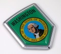 Washington Flag Crest Car Badge
