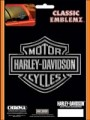 Embossed Harley Davidson Logo Decal
