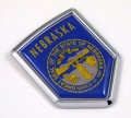 Nebraska Flag Crest Car Badge