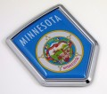 Minnesota Flag Crest Car Badge