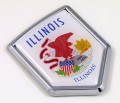Illinois Flag Crest Car Badge