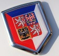 Czech Republic Flag Crest Car Badge