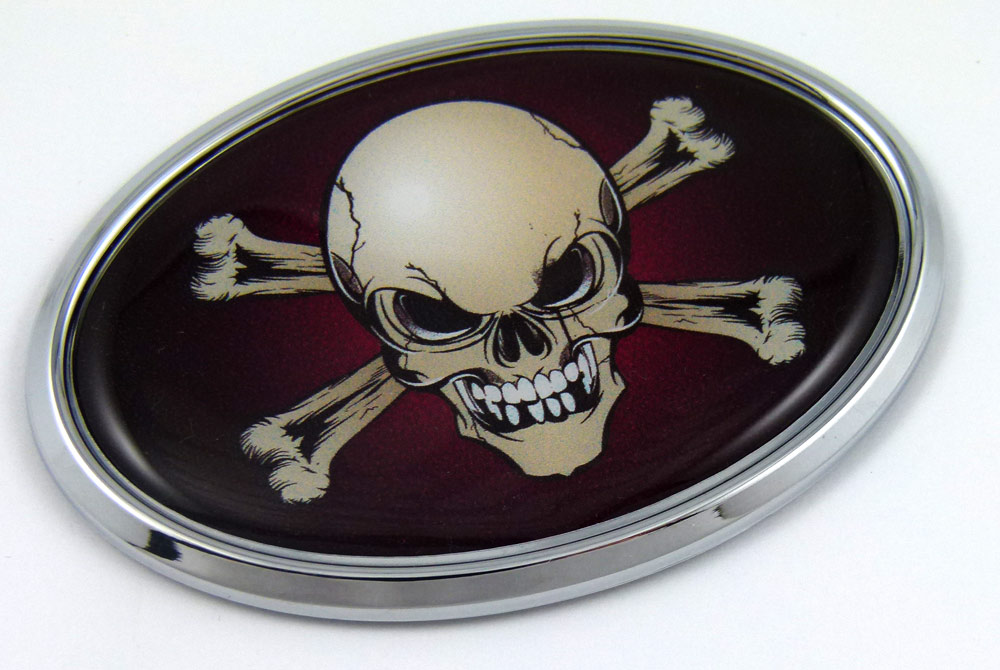 Skull Oval 3d Car Badge Seethrugraphics And Chrome Car