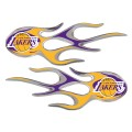 Los Angeles Lakers Domed Flame Decals PAIR