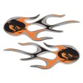 Baltimore Orioles Domed Flame Decals PAIR