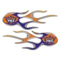 Phoenix Suns Domed Flame Decals PAIR