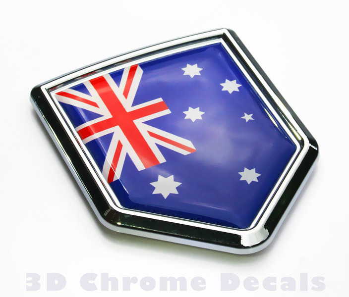 Australia Flag Crest Car Badge Seethrugraphics And