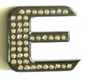 Crystal Letters BLACK E
