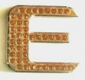 Crystal Letters GOLD E