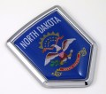 North Dakota Flag Crest Car Badge