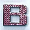 Crystal Letters Pink - B