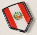 Peru Flag Crest Car Badge