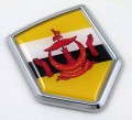 Brunei Flag Crest Car Badge