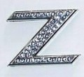 Crystal Letters Blue - Z