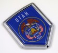 Utah Flag Crest Car Badge