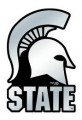 NCAA Michigan State Spartans Silver Auto Emblem