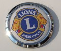 Lions Club Chrome Emblem Car Badge
