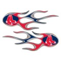Boston Red Sox Domed Flame Decals PAIR