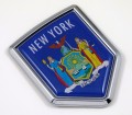 New York Flag Crest Car Badge