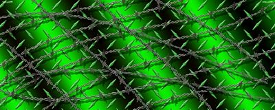 Diamond Plate With Barbwire Green Rear Window Graphic See
