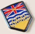 Canada British Columbia Flag Crest Car Badge