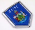 Maine Flag Crest Car Badge