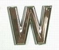 Chrome Letter Style 1 - W