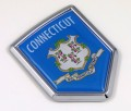 Connecticut Flag Crest Car Badge