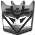 Decepticon Transformer Car Badge
