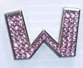 Crystal Letters Pink - W