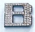 Crystal Letter Silver - B