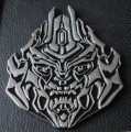 Metal Decepticon Transformer Car Badge