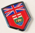Canada Manitoba Flag Crest Car Badge