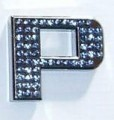 Crystal Letters Blue - P