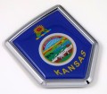Kansas Flag Crest Car Badge