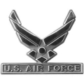 Air Force Wings Emblem Stick Car Badge
