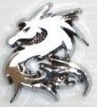 Tribal Dragon Chrome Emblems Small PAIR Car Badge