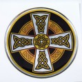 Celtic Domed 1 3D Chrome Background Adhesive Car Badge