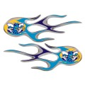 New Orleans Hornets Domed Flame Decals PAIR