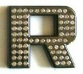 Crystal Letters BLACK R