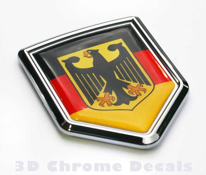 Germany Flag Crest Car Badge Seethrugraphics And Chrome Car Badges