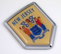 New Jersey Flag Crest Car Badge