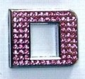 Crystal Letters Pink - D