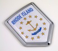 Rhode Island Flag Crest Car Badge