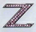 Crystal Letters Pink - Z