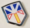 Canada Newfoundland Flag Crest Car Badge