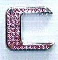 Crystal Letters Pink - C