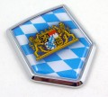 Bavaria Flag Crest Car Badge