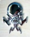Skull Chrome Emblem Car Badges
